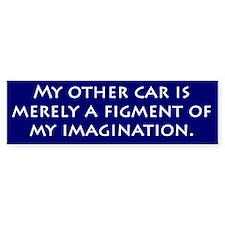 Imagination Car Bumper Bumper Sticker