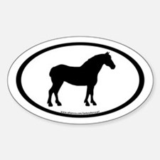 Draft Horse Oval Oval Decal