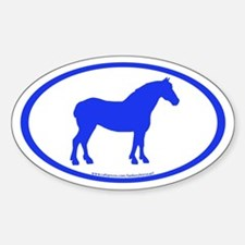 Draft Horse Oval (blue) Oval Decal
