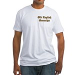 Old English Pocket Area Fitted T-Shirt