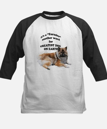 Eurasier dog Kids Baseball Jersey