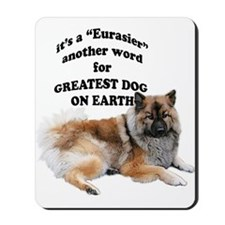 Eurasier dog Mousepad
