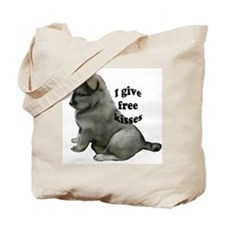 Eurasier puppy kisses Tote Bag