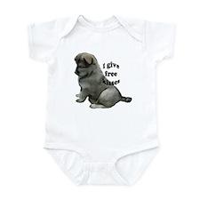 Eurasier puppy kisses Infant Bodysuit
