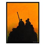 TROOP ON A LAV III YELLOW SUNSET Small Poster