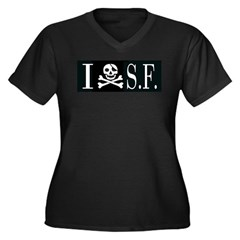 I Hate Frisco Women's Plus Size V-Neck Dark T-Shir