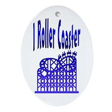 I Roller Coaster Keepsake (Oval)