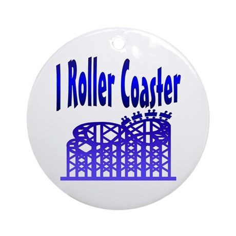 I Roller Coaster Keepsake (Round)