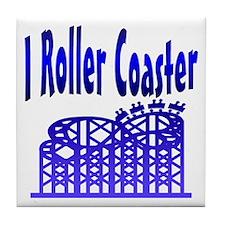 I Roller Coaster Tile Coaster