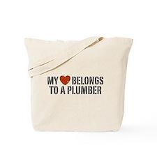 My Heart Belongs to a Plumber Tote Bag