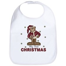 My First Christmas Holiday Baby infant Bib