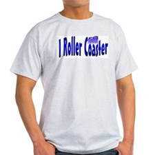 I Roller Coaster Ash Grey T-Shirt