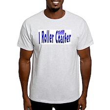 I Roller Coaster Ash Grey T-Shirt
