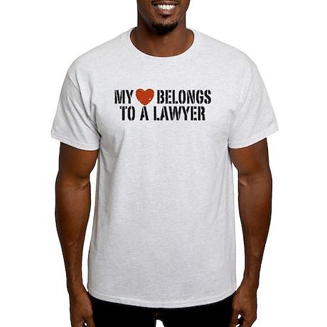 My Heart Belongs to a Lawyer Light T-Shirt