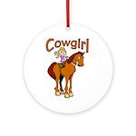 Cowgirl Keepsake (Round)
