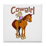 Cowgirl Tile Coaster