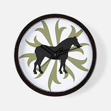 Draft Horse Sage Tribal Wall Clock