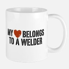 My Heart Belongs to a Welder Mug