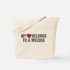 My Heart Belongs to a Welder Tote Bag