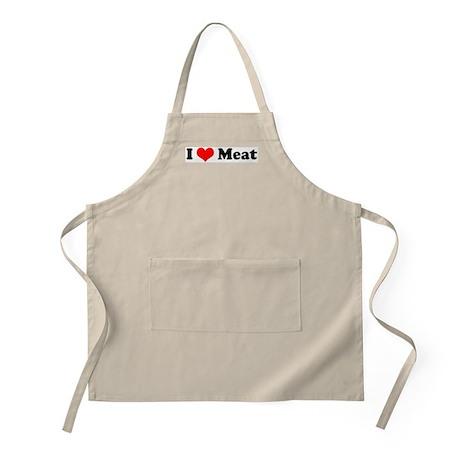 I Love Meat BBQ Apron
