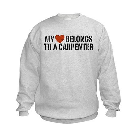 My Heart Belongs to a Carpenter Kids Sweatshirt