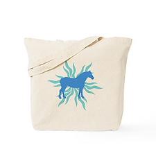 Blue Star Draft Horse Tote Bag