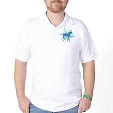 Blue Star Draft Horse T-Shirt