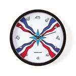 Assyrian Flag Wall Clock
