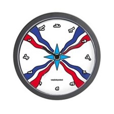 Assyrian Flag Wall Clock