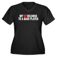 My Heart Belongs to a Bass Player Women's Plus Siz