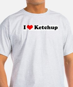 I Love Ketchup Ash Grey T-Shirt