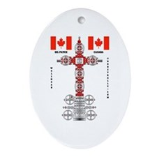 Oil Patch Canada Oval Ornament