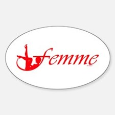 Femme 2r Oval Decal