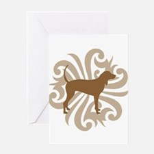 Brown & Tan Coonhound Greeting Card