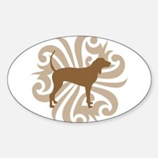Brown & Tan Coonhound Oval Decal