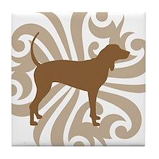 Brown & Tan Coonhound Tile Coaster