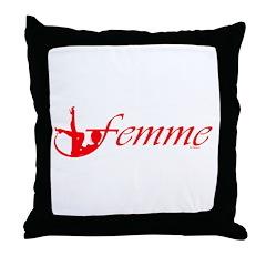 Femme 2r Throw Pillow