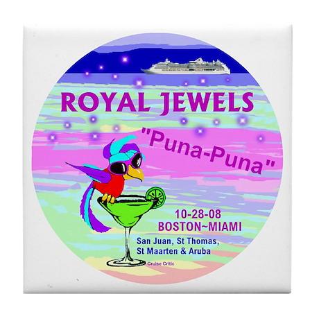Royal Jewels Puna Puna '08- Tile Coaster