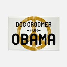 Dog Groomer for Obama Rectangle Magnet