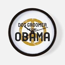 Dog Groomer for Obama Wall Clock