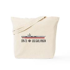 USS Vinson CVN-70 Tote Bag