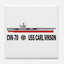 USS Vinson CVN-70 Tile Coaster