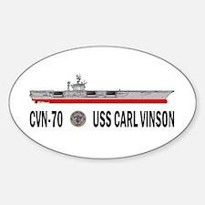 USS Vinson CVN-70 Oval Decal