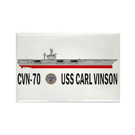 USS Vinson CVN-70 Rectangle Magnet