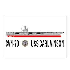 USS Vinson CVN-70 Postcards (Package of 8)