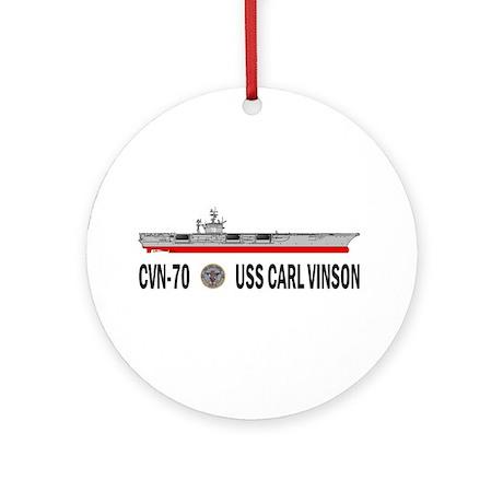 USS Vinson CVN-70 Ornament (Round)