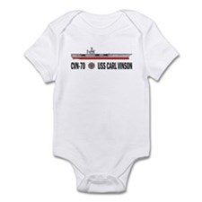 USS Vinson CVN-70 Infant Bodysuit