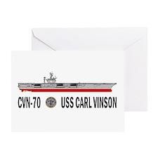 USS Vinson CVN-70 Greeting Card