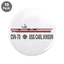 "USS Vinson CVN-70 3.5"" Button (10 pack)"