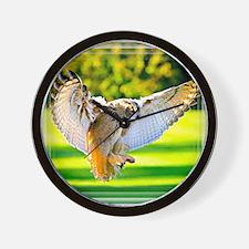 Unique Eagle owl Wall Clock